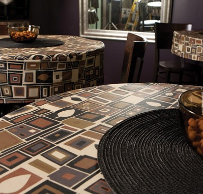 6125 black mocha vinyl table cover