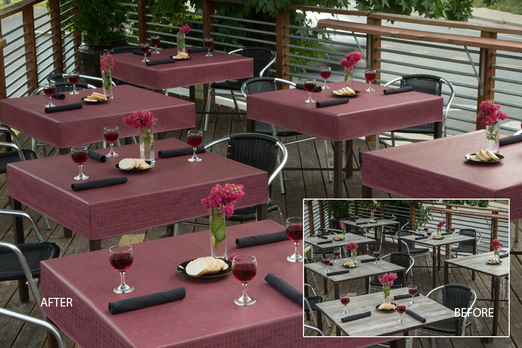 6111 premium cabernet vinyl tablecloth