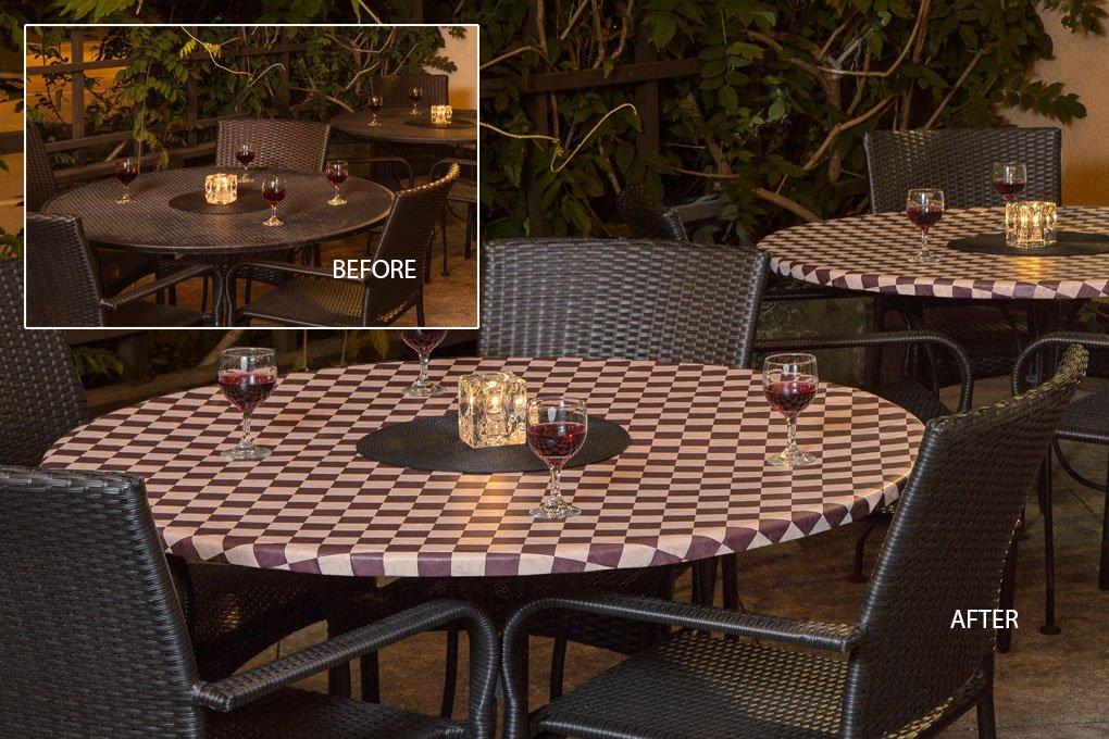 9816 classic cabernet vinyl tablecloth