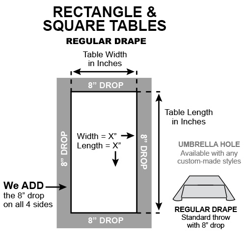 Rectangle square drape