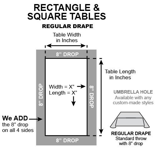 Rectangle square drape