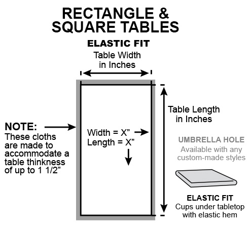 Rectangle square elastic fit