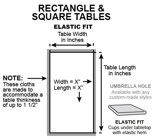 Rectangle square elastic fit