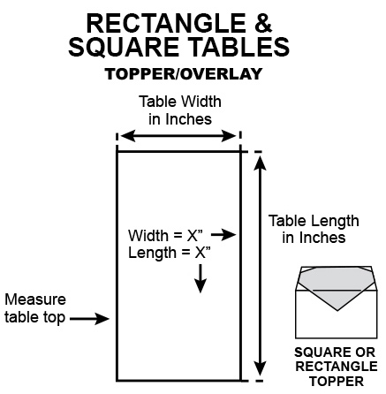 Rectangle square topper overlay