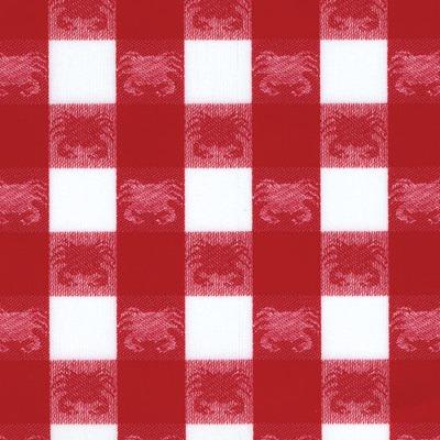 1226 crab red & white med