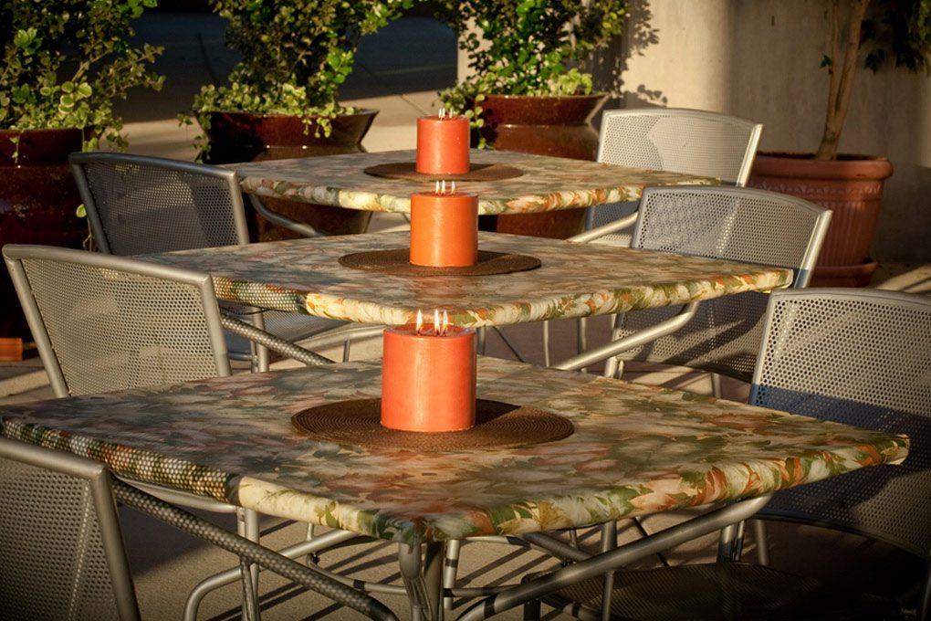 12 6113 premium vinyl rainforest tablecloth
