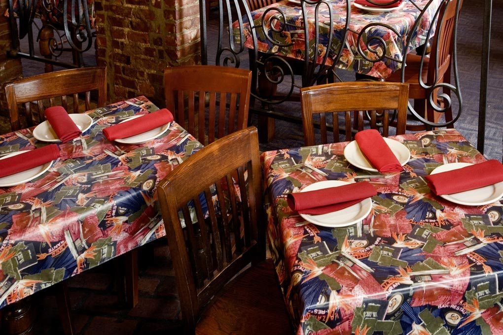 25 customer material americlear tablecloth