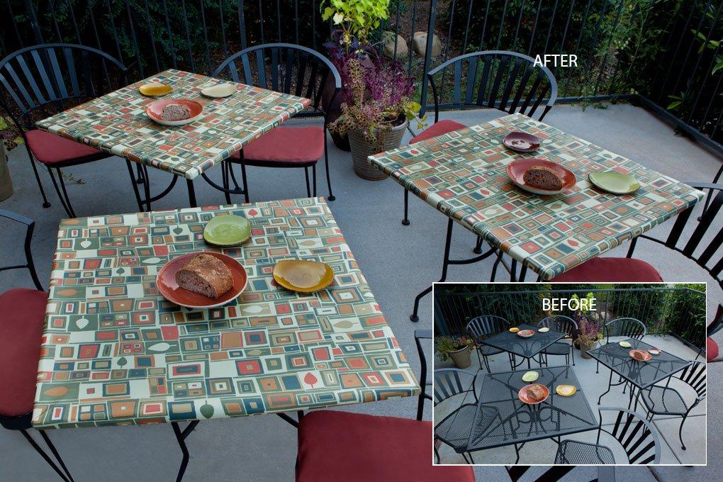 6125 premium vinyl eucalyptus tablecloth
